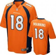 bc240ab637a74 Camisa Replica NFL - Broncos  18 - Manning - Laranja - Porto Futebol ...