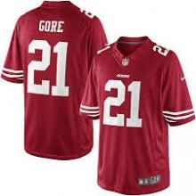 55e4ea3410e22 Camisa Original Nike (Youth) - Jovens - 49ers  21 - Gore - Vermelha ...