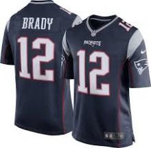 56d7d0ea34dc0 Camisa Replica NFL - Patriots  12 - Brady - Azul - Porto Futebol ...